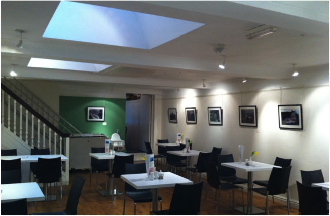 Figure 4: the composite images on display in the museum Coffee House